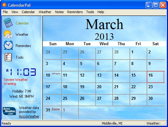 Win printable calendar & small windows desktop calendar 2017.
